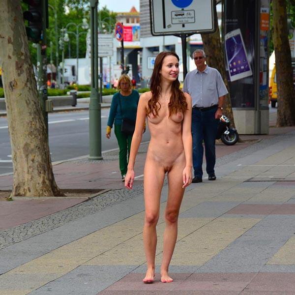 Nude girls in public activity